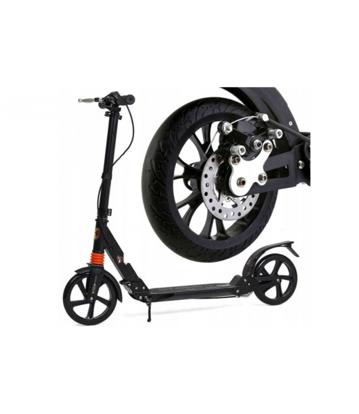 Scooter URBAN with disc brakes (Black)