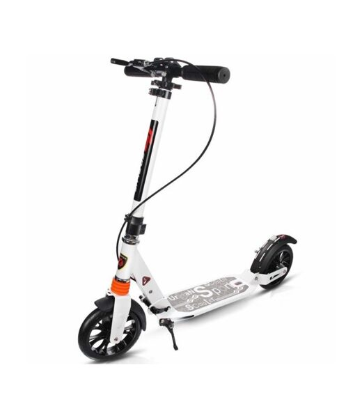 Scooter URBAN with disc brakes (White)