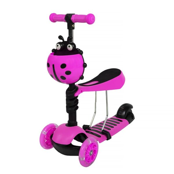 Three-wheel scooter 5in1 (Pink)
